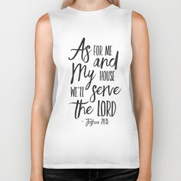 PRINTABLE ART,  As For Me And My House We Will Serve The Lord,Bible Verse,Scripture Art,Bible Print, Biker Tank
