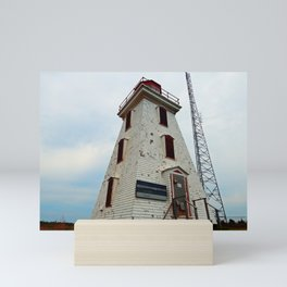 Cape Egmont Lighthouse and Communication Tower Mini Art Print