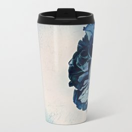 Blue Tulip- Scratched And Grungy Travel Mug