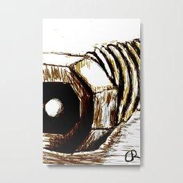 Turned screw Metal Print