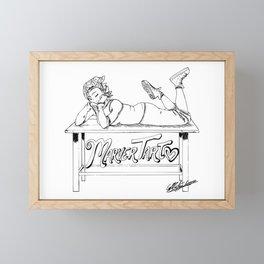 MarverTart Linework Framed Mini Art Print