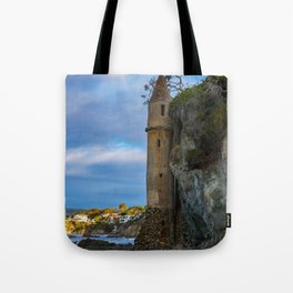 Pirate Tower on Victoria Beach Tote Bag