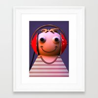 headphones Framed Art Prints featuring Headphones by Aguinaldo Goncalves