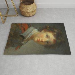 "Jean-Honoré Fragonard ""A Boy in a Red-lined Cloak"" Rug"