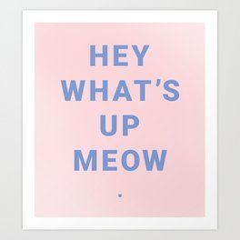 HEY WHAT'S UP MEOW Art Print