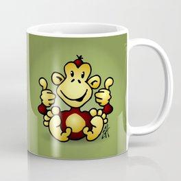 Manic Monkey with 4 thumbs up Coffee Mug