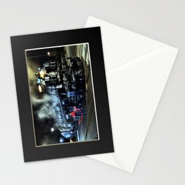 Signaling With Lantern. Lantern Up. UP 9000. Union Pacific. Steam Train Locomotive. © J. Montague. Stationery Cards