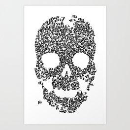 Panda is cool/skull Art Print