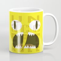 lemongrab Mugs featuring Lemongrab Typography by Aaron Bowersock