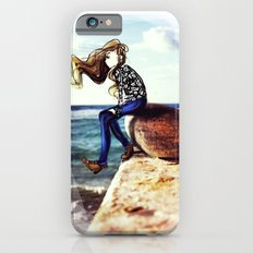 Girl on a stone iPhone 6s Slim Case