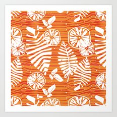 Orange Forest Art Print