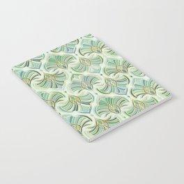 Jade Enamel Art Deco Fans Notebook