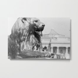 The Lion and the Girls - National Gallery London Metal Print