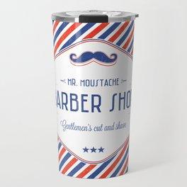 Mr. Moustache Barber Shop Travel Mug