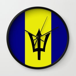 Flag of Barbados Wall Clock