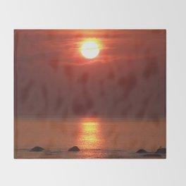 Halo Sunset Glow Throw Blanket