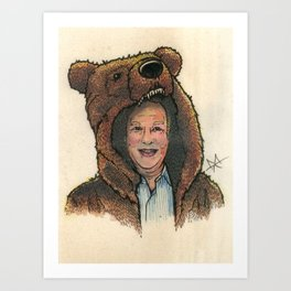 Bear Suit Marc Art Print