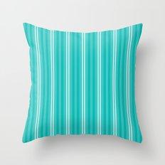 Tiffany Aqua Blue Shades Pinstripes Throw Pillow