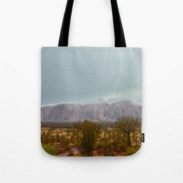 Uluru in the rain Tote Bag