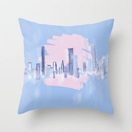 PALE SCAPE Throw Pillow