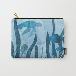 Underwater sea life ocean life water creatures Carry-All Pouch