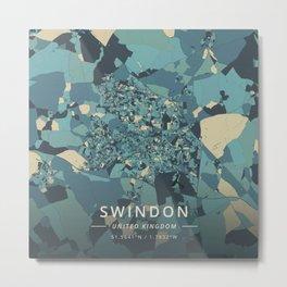 Swindon, United Kingdom - Cream Blue Metal Print