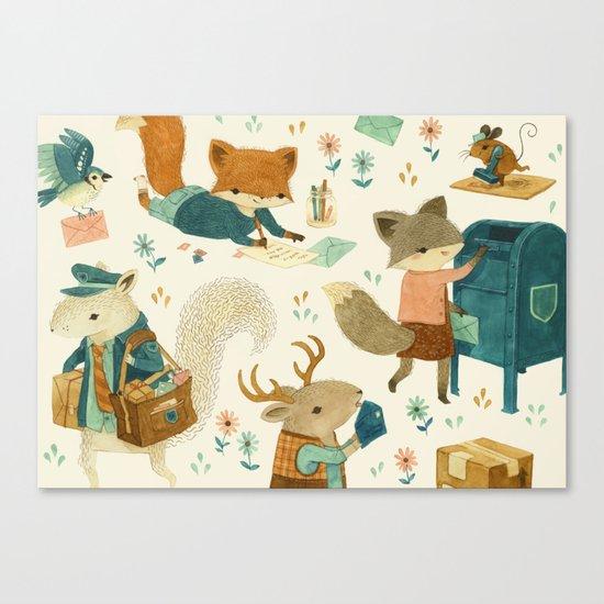 Critter Post Canvas Print