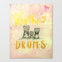 drums Canvas Prints featuring Drums by Art Show For A Cause Gallery + Products