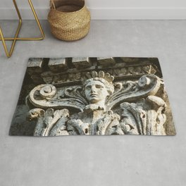 Chicago Architectural Detail Ornamental Column Face Rug