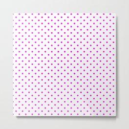 Dots (Fuchsia/White) Metal Print