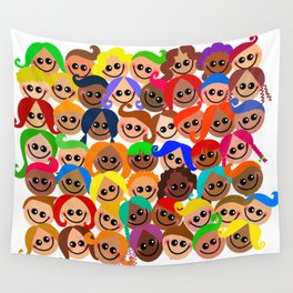 Happy Diverse Children Wall Tapestry