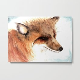Watercolor Sketchbook: fox study Metal Print