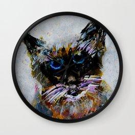 Old Cat Wall Clock