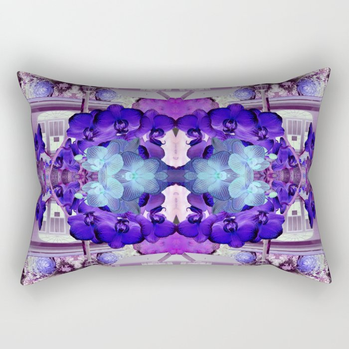 Blue Orchid Rectangular Pillow