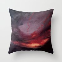 cargline Throw Pillows featuring Day Break by cargline