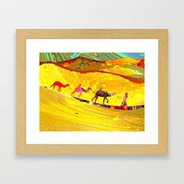 over the never ever ending sand Framed Art Print