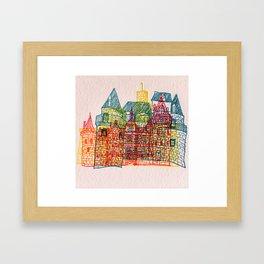 Letterpress Castle 4 Framed Art Print