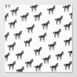 ZEBRA PATTERN BLACK AND WHITE MULTI TIERED Canvas Print