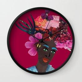 Antonia red Wall Clock