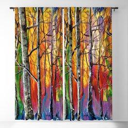 Enchanted Universe Modern Art Blackout Curtain