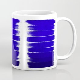 Shel - abstract painting painterly brushstrokes indigo blue bright happy paint abstract minimal mode Coffee Mug