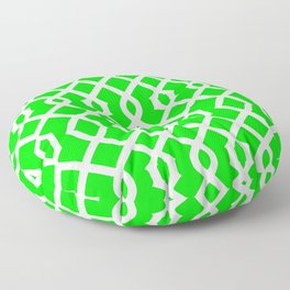Grille No. 3 -- Lime Floor Pillow