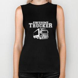 Trucker Mens Funny Beard Length Driver Lorry Gift Truck T-Shirts Biker Tank