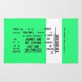 Concert Ticket Stub - Journey at AT&T Park - GREEN Rug