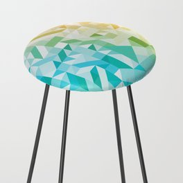Colorful Geometric Pattern Saturated Rainbow Pattern Design (Red Pink Orange Yellow Green Blue) Counter Stool