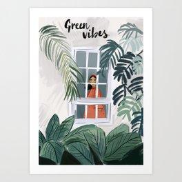 Green Vibes Art Print