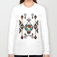art deco Long Sleeve T-shirts featuring Art Deco Lady by naturessol