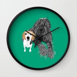 Max and Jimmy Wall Clock