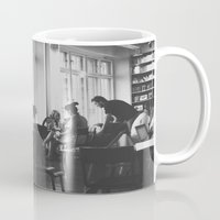 starbucks Mugs featuring Starbucks B/W by Vincent Brod