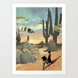 Valley of the Shadow of Fish Art Print